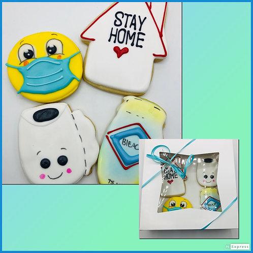 Quarantine Cookies gift set of 4
