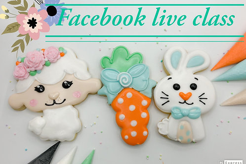 Facebook live class April 10 @8pm