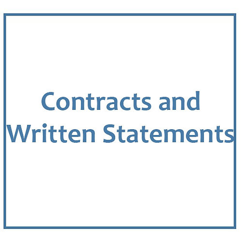 Contracts and Written Statements