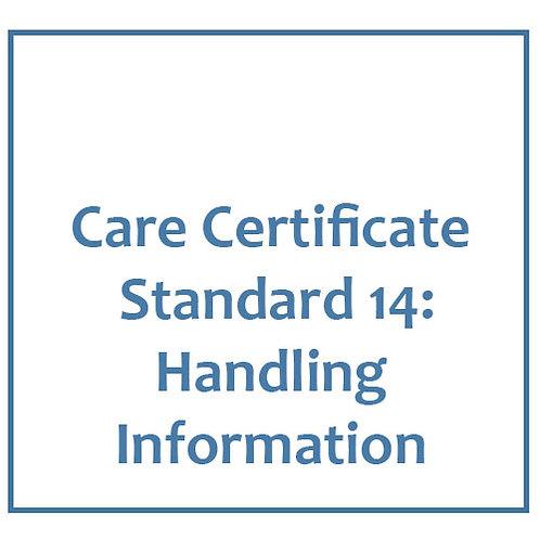 Care Certificate Standard 14: Handling Information