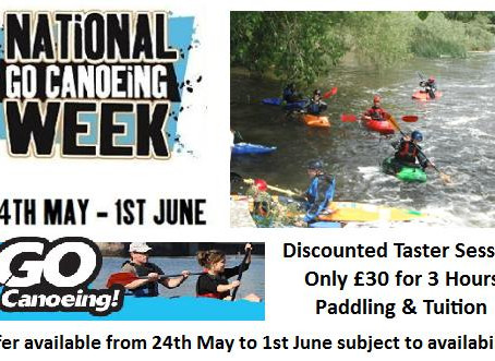 Go Canoeing Week Taster Session Offers