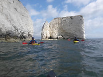 Kayaking round Old Harry Rocks with Aquatic Leisure