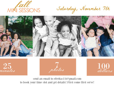 FALL 2015 MINI SESSIONS | SIGN UP!