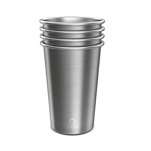 Bevu® FIESTA Steel Cups (4) Steel 470ml / 16oz.