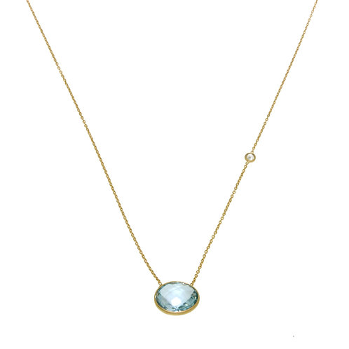 Ocean Classic Necklace in Blue Topaz and White Topaz