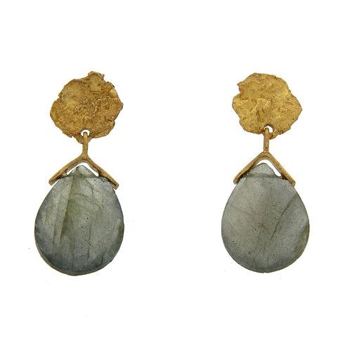 Mystic Earrings in Labradorite