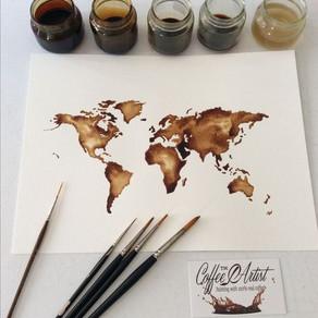 Pintar con café