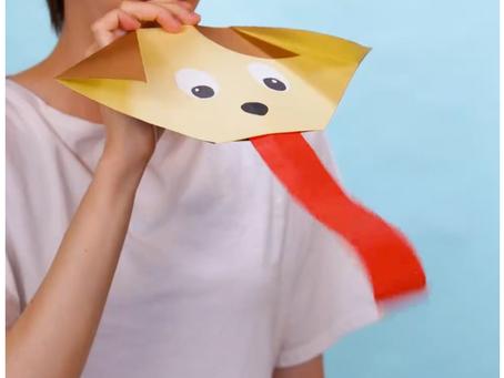 Perrito o dragón de papel