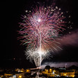 feu d'artifice sur le port de Saint Martin
