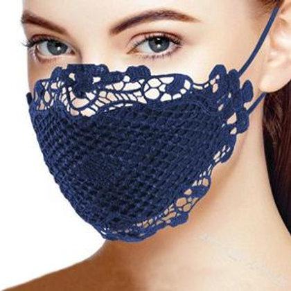 Crochet Lace Design (Navy)