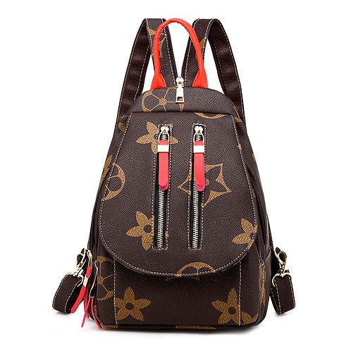 """Double Zipper """"Mini"""" Backpack (Red)"""