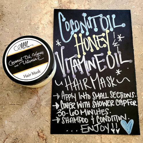 Coconut Oil, Honey, And Vitamin E Oil Hair Mask
