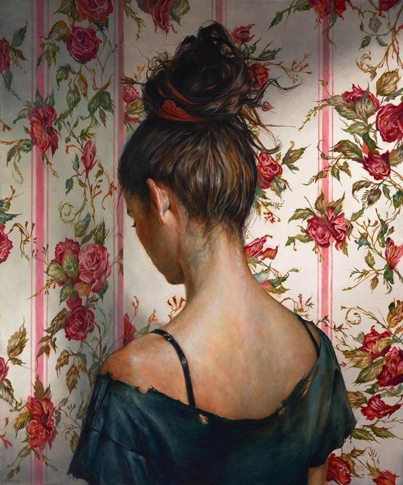 girl looking at wall esao andrews