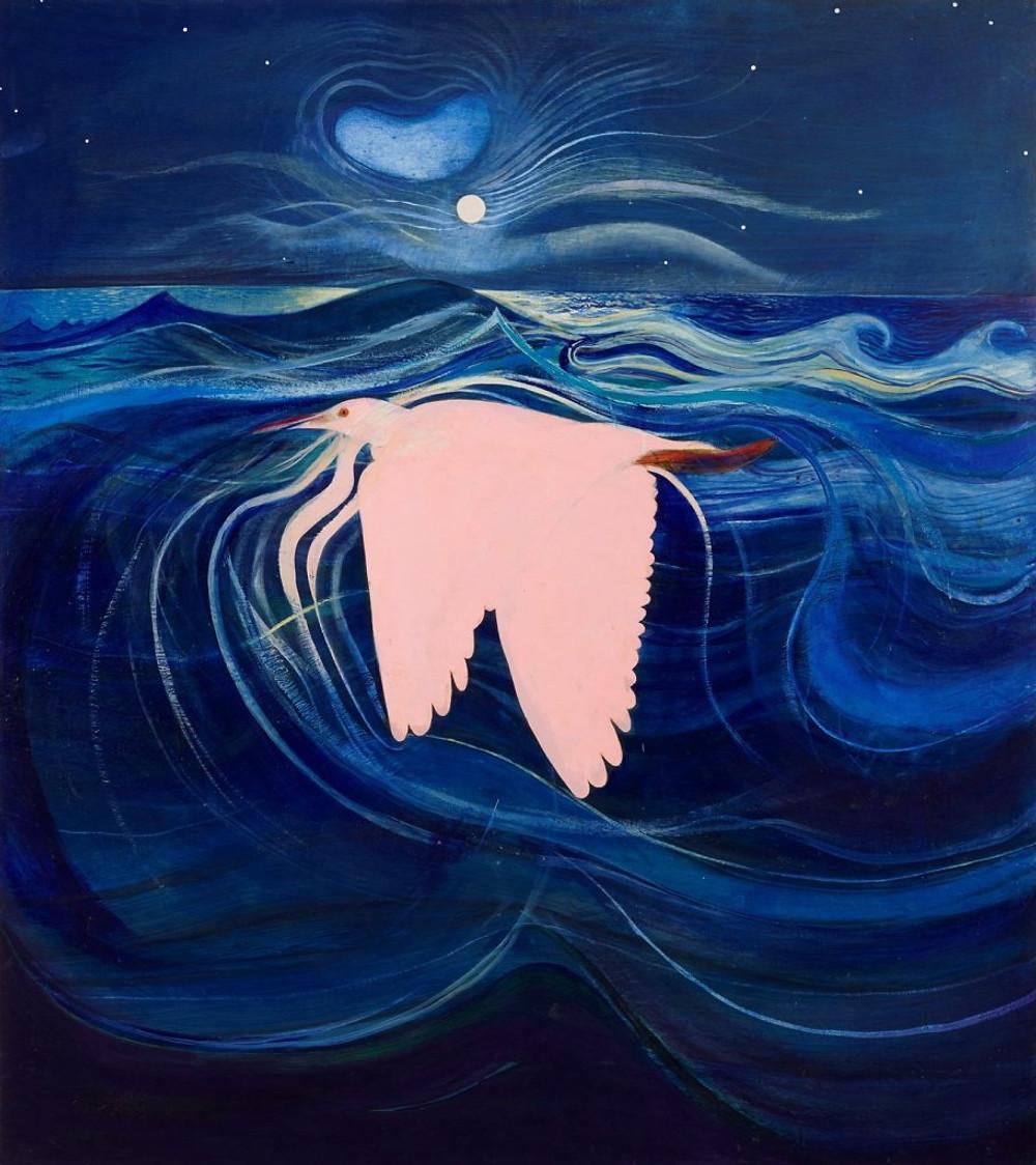 The pink heron Brett Whiteley