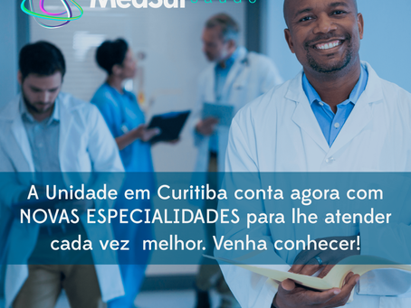 Venha conhecer as novas especialidades da unidade Curitiba