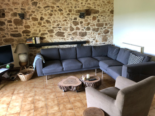 Lounge area Gîte Beynac