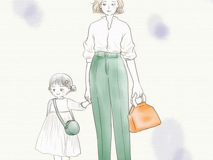 春のおでかけ親子ファッション