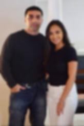 Isaac Garza and his wife Ariel Garza
