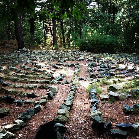 It is solved by walking #labyrinth.jpg