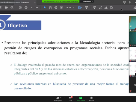 Sesión Metodología de Gestión de Riesgos de Corrupción en Programas Sociales.