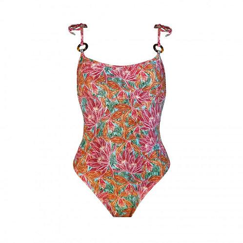 CORAÇÃO BOBO | Swimsuit With Tie Straps - Orchid