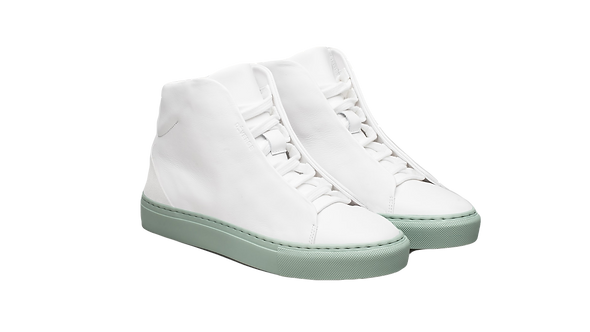 DIVERGE | V13 White Leather w/ Pastel Blue