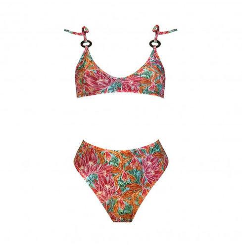 CORAÇÃO BOBO | Bikini With Tie Straps - Orchid