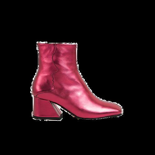 UNREAL FIELDS | Glaxy - Red Metallic Mid Heel Boots