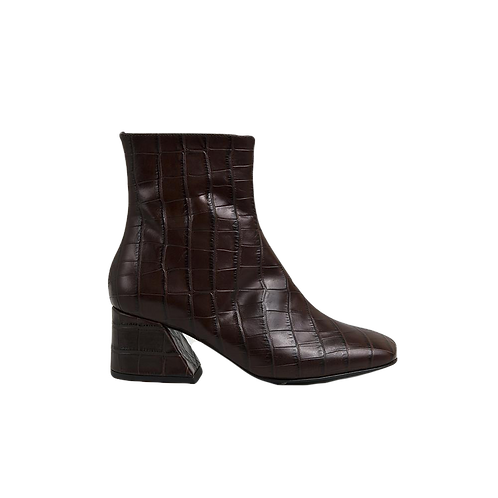 UNREAL FIELDS | Doric - Brown Leather Square Toe Boots