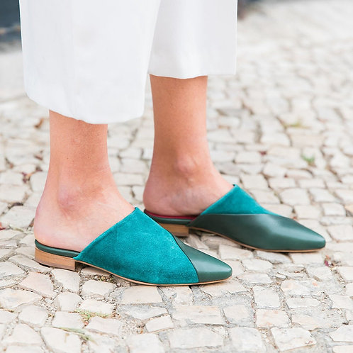 INLU | Mules | Blue/Green