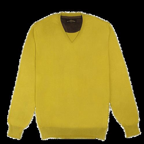 ARMAZÉM DAS MALHAS | V Neck Yellow  Pullover