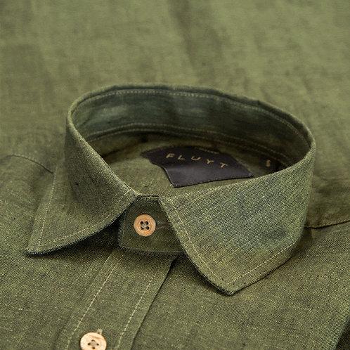 FLUYT | Green Linen Shirt