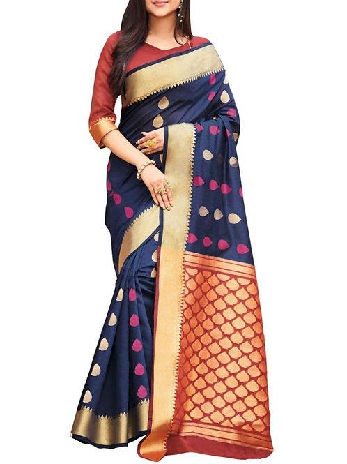 Elegant Blue Color Saree Online Low Price