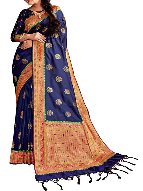 Agreeable Navy Blue Buy Sarees Online India