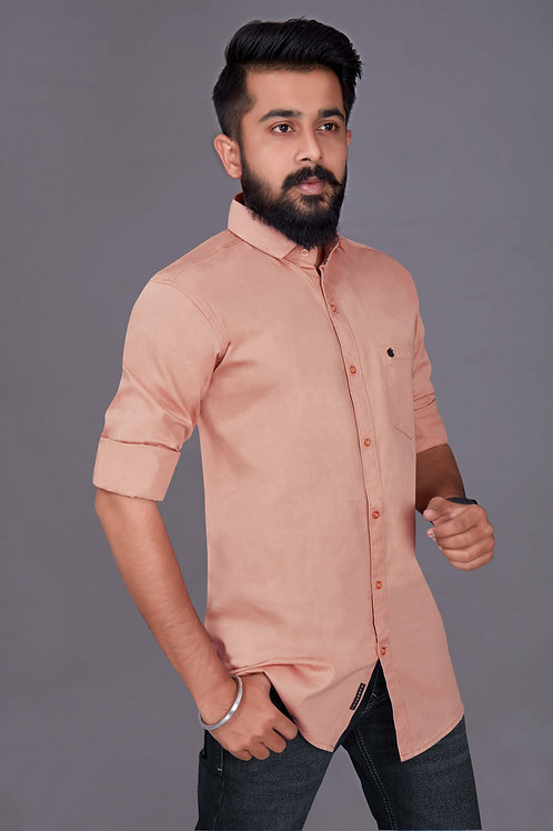 Mens Fabulous Bright Pitch Color For Party Wear Shirt