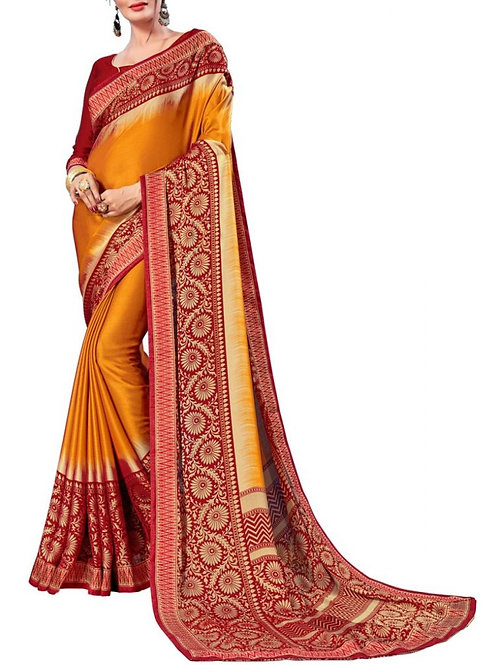 Exquisite Yellow Color Pattu Sarees Online Shopping