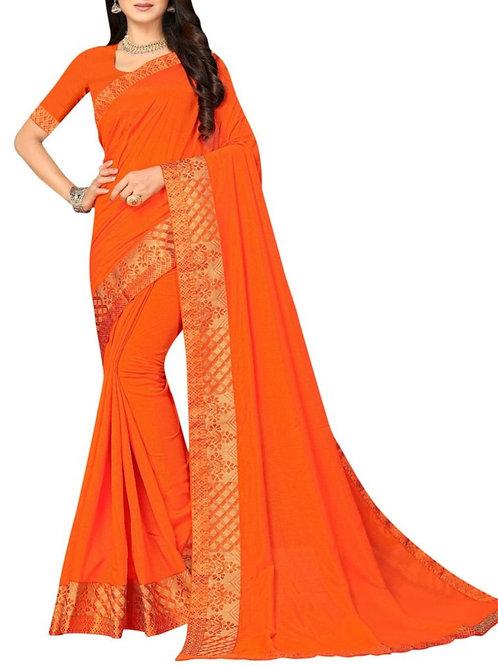 Exclusive Orange Exclusive Designer Sarees
