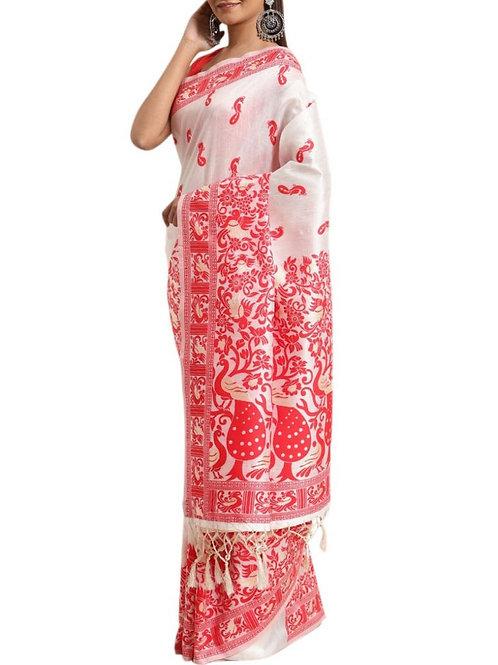 Existence White Designer Saree Collection