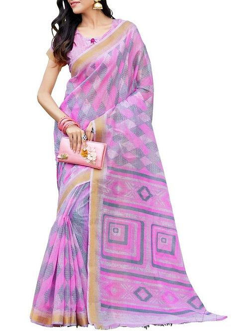 Dreamy Light Pink Color Designer Wear Sarees Online