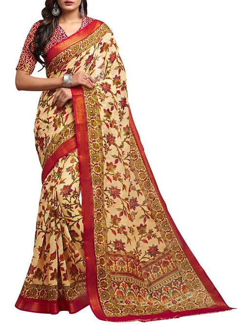 Glorious Cream Saree With Price