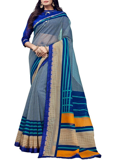 Electrifying Blue Color Lehenga Saree Price