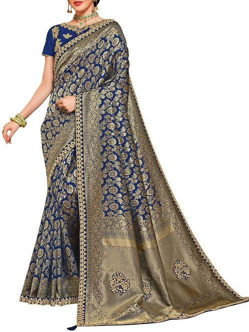 Marvelous Blue Wedding Sarees Online