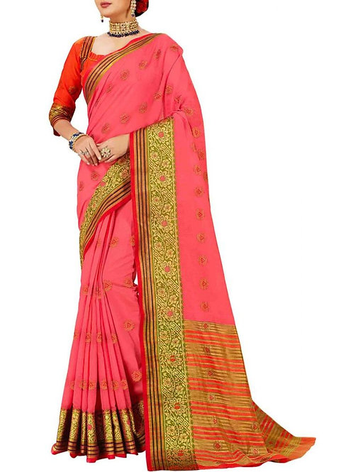 Eye-Popping Pink Color Wedding Saree Collection