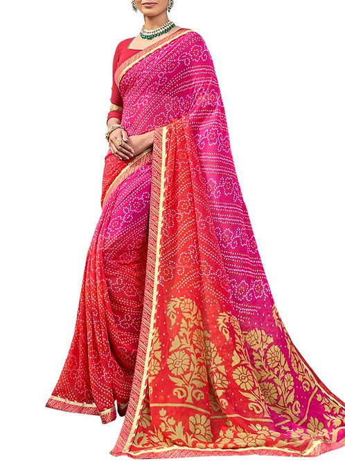 Beautiful Pink Color Sarees Online Shopping