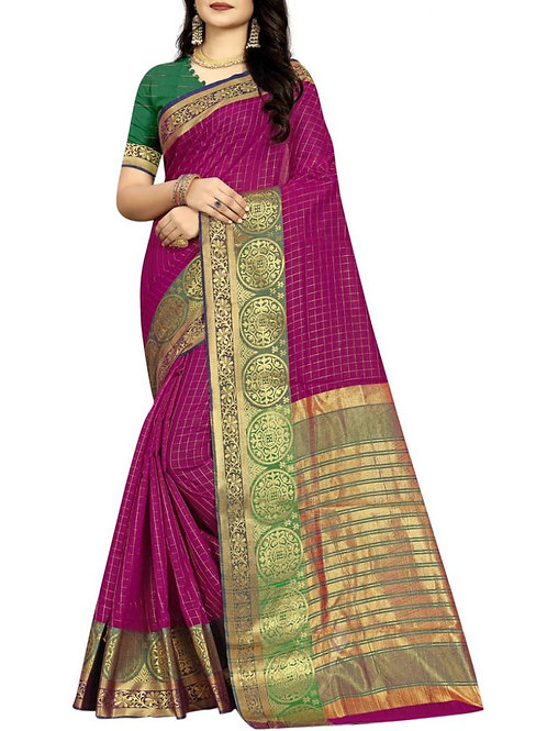 Awesome Magenta Color Beautiful Sarees Online
