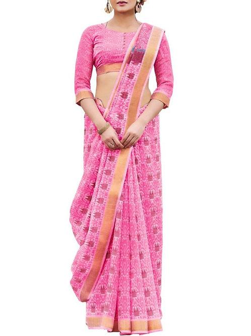 Breathtaking Pink Color Designer Party Wear Sarees