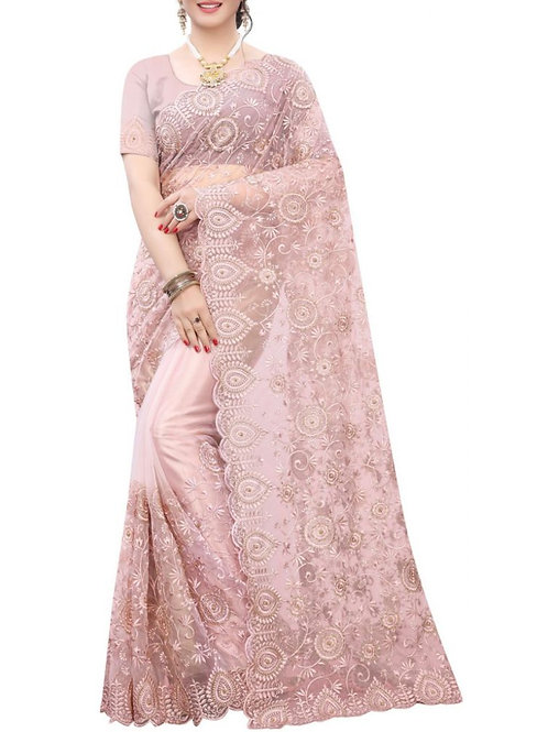 Fascinating Light Pink Traditional Sarees Online