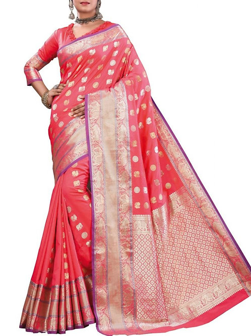 Heart-Stopping Light Pink Color Party Wear Sarees Online