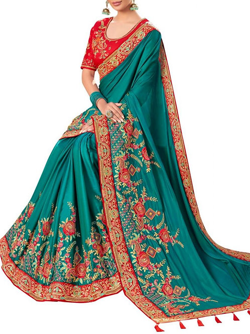 Heart-Stopping Rama Price Saree Online Shopping