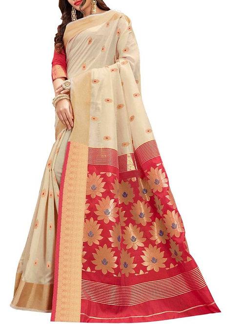 Inviting White Color Online Designer Saree Shopping Sites